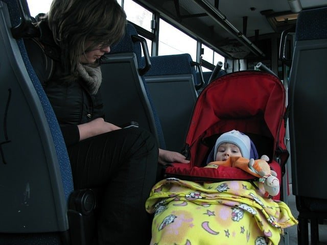 hacks for traveling with a baby
