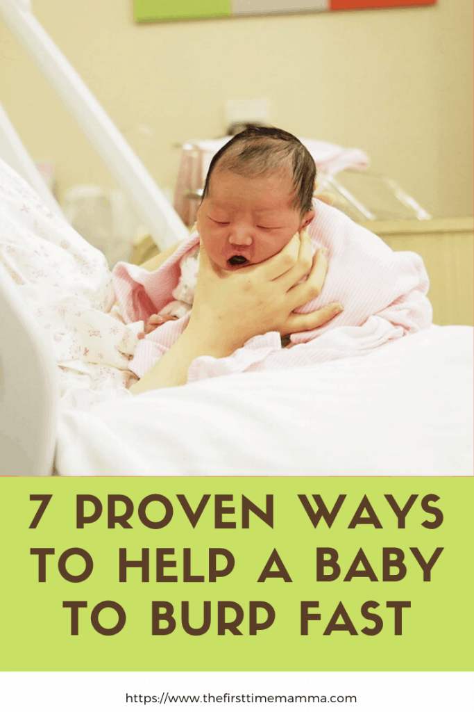 Tips to help a baby burp fast