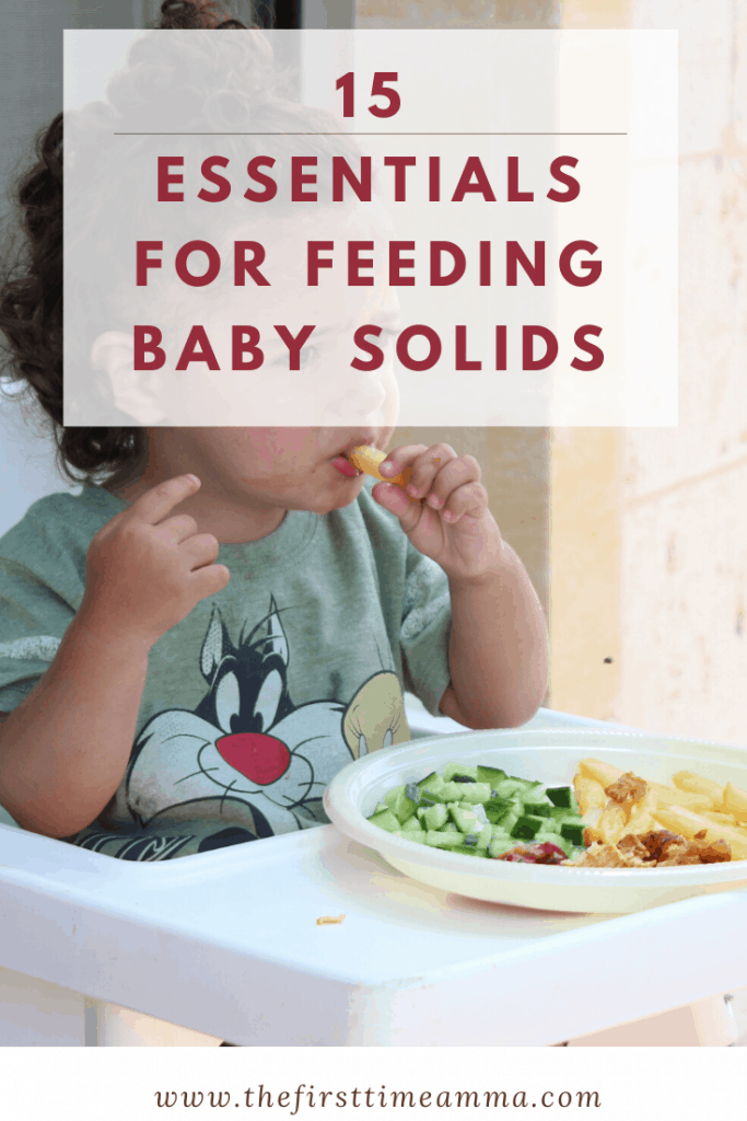 Essentials for feeding baby solids