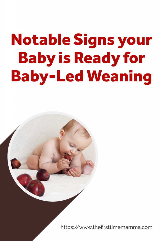 signs your baby is ready for baby-led weaning
