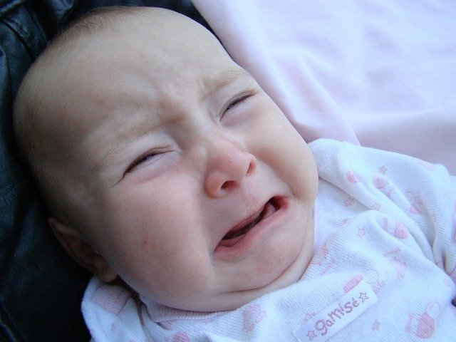 when a baby cries but there is no sound